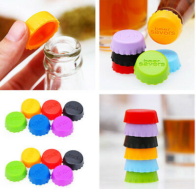 Candy Colored Useful Metallic Bottle Cap Multi-Pack 6 Count Gifts AB02