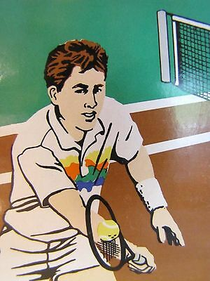 NIB Vintage Deadstock 1980s Freelance, Inc. Tennis Court Racquet Player Gift Mug