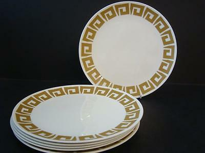 """Wedgwood Susie Cooper Keystone Old Gold 6 X Dinner Plates 10.5"""""""