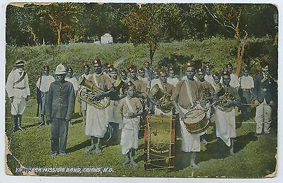 C.1906 Pt Postcard Yarrabah Mission Band Aboriginal Cairns North Queensland Q13