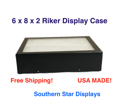 Riker Display Case 6 x 8 x 2 for Collectibles Jewelry Arrowheads Fossil & More