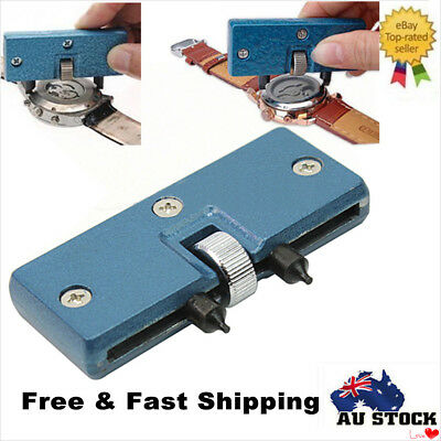 Adjustable Watch Back Case Opener Cover Screw Remover Wrench Repair Tool Kit