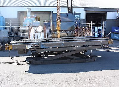 Powered Chain mesh 2x 5m x 0.75m belt Conveyor adjustable height & angle 3 phase