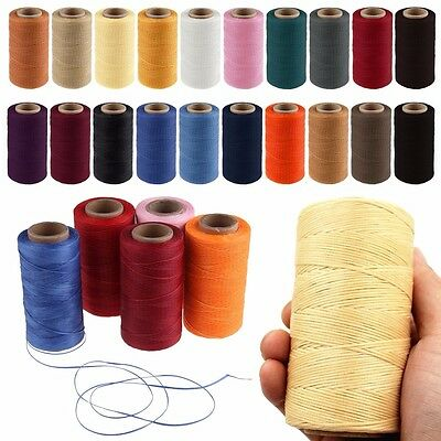 2 PCS 260m 1mm Flat Wax Sew Coarse Waxed Thread Cord For Leather Shoes Repair AU