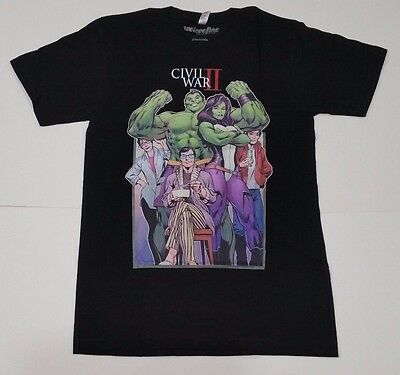 Marvel Civil War 2 Hulk She-Hulk Mens Graphic T Shirt Small