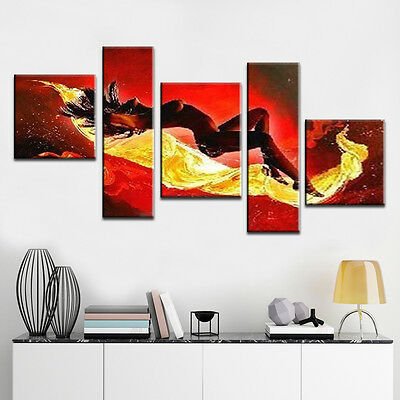 Modern Hand-painted Abstract Art Sleeping Beauty Oil Painting On Canvas Decor