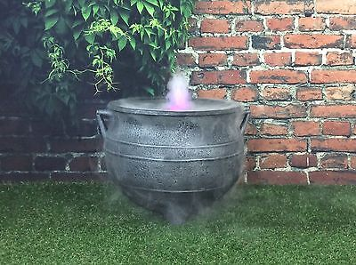 Witches Ultra Sonic Mist Maker Halloween Cauldron 15 Inch Cast Iron Effect /