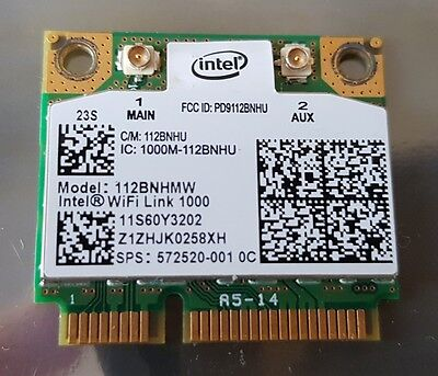 HP 572520-001 Intel WiFi Link 1000 112BNHMW 802.11BGN