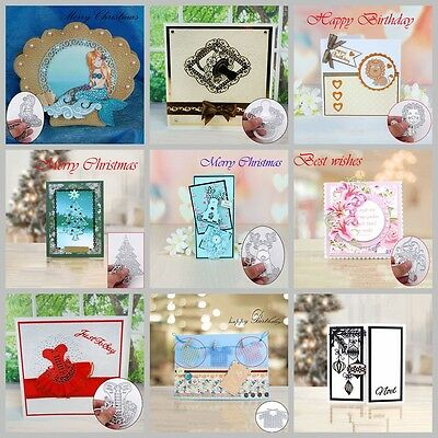 Christmas Xmas Cutting Dies DIY Scrapbooking Decor Embossing Photo Album Craft