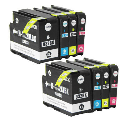 4x 8x 932XL 933XL Ink Cartridge Compatible for HP Officejet Pro 6100 6700 7110