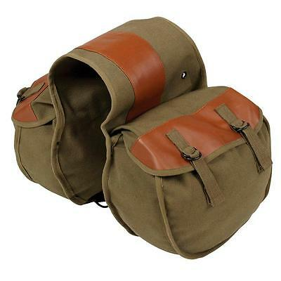 FREESOO Motorcycle Saddle Bag Bicycle Panniers Bags Vintage Look for...
