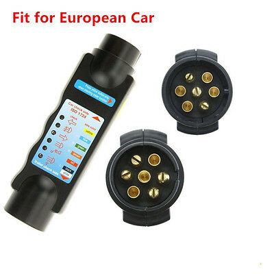7 Pin 12V Car Vehicle Trailer Towing Light Cable Socket Tester for 7-Hole Plug