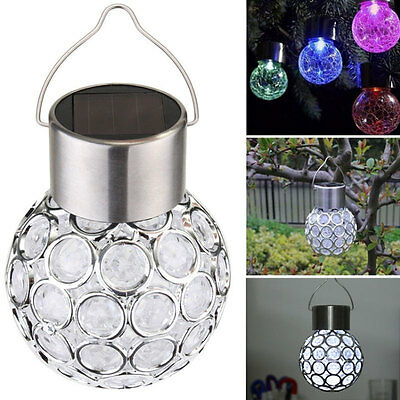 Solar Power Garden Hang Outdoor Landscape Color Changing LED Lamp Walkway Light