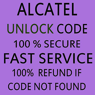 ALCATEL PERMANENT UNLOCK CODE FOR ALCATEL Cell Mobile Phones Worldwide Carrier