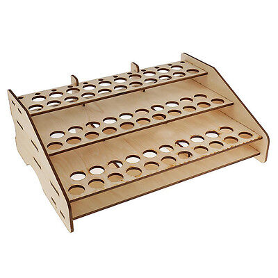 63 Position Wooden Color Paints Bottle Storage Rack Tools Holder Modular Organiz