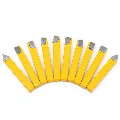 10Pcs 5/16 Inch Shank C6 Grade Lathes Carbide Tip Tipped Cutter Turning Tool Bit