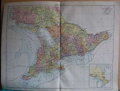 1919 Large Map- Canada, Ontario