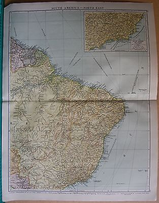 1919 Large Map- South America-North East