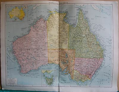 1919 Large Map- Australia, Political