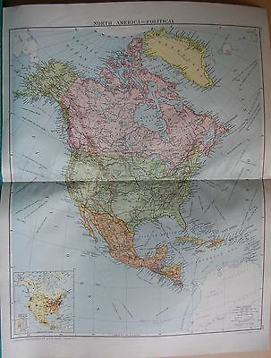 1919 Large Map- North America, Political