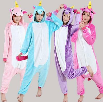 Kigurumi Pijama Unisex Halloween Costume Cosplay Animal Unicornio Pony Onesie
