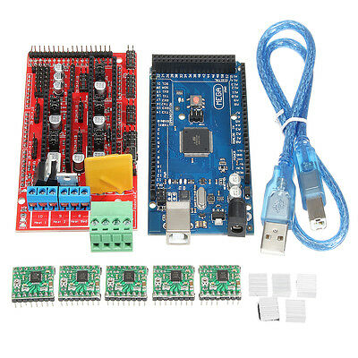 MEGA 2560 R3 With USB Cable + RAMPS 1.4 RepRa + A4988 Drivers 3D Printer Kit For