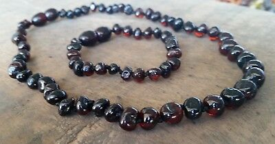 Genuine Baltic Amber Child Necklace - CHERRY SET - Jewellery Beads FREE POST
