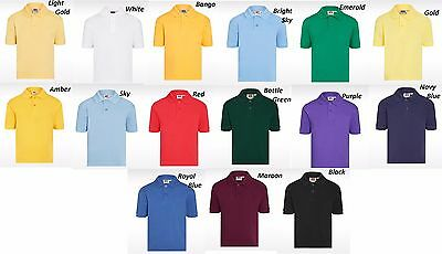 DAVID LUKE POLO SHIRT GIRLS & BOYS UNIFORM SCHOOL SPORTS Age 2-10 Yrs S-XL SIZE