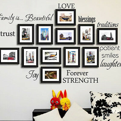 Wall Stickers Decal Decor Home Family Picture Photo Frames room removable