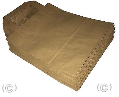 """25 SMALL BROWN KRAFT CRAFT PAPER SOS CARRIER BAGS 7x3.5x8.5"""""""