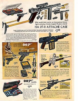 1966 Xmas catalog pg James Bond 007 Luger Man From UNCLE Thrush Rifle Solo