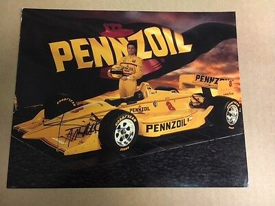 "Gil De Ferran ""Yellow Pennzoil""  Signed Photo with COA"