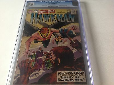Brave And The Bold 35 Cgc 4.0 2Nd App Hakman And Hawkgirl Kubert Collection Coa