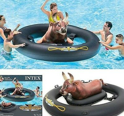 Inflatable Giant Bull-Riding Summer Party Pool Lake Water Fun Toy Float Raft NEW