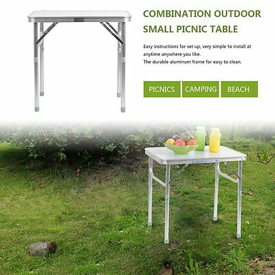 2FT Portable Camping Picnic Folding Table Computer Aluminum Dining Desk BP
