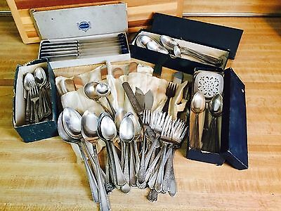 Large Lot of Antique Silverware - Over 75 Mixed Pieces