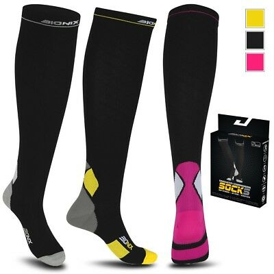 Compression Socks Running Anti Fatigue Graduated Travel Flight Sleeve Ladies Men