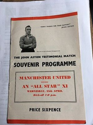 Lot Of 7 MANCHESTER UNITED FC REVIEW Programmes 1955-57
