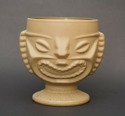 """Vintage 5"""" Frosted Glass Tiki"""