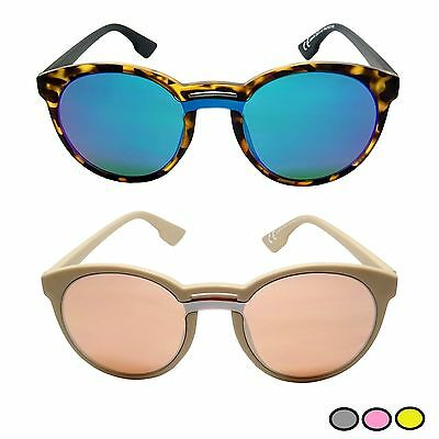 Lunettes De Soleil Cathy Rondes Cat Eyes Abstract Miroir Verres So Real  Unisexe b86aa40dab5c
