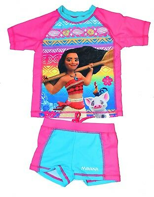 NEW Size 3-8 KIDS GIRLS SWIMSUIT BATHERS SWIMWEAR DISNEY MOANA RESCUE TRUNK TOGS