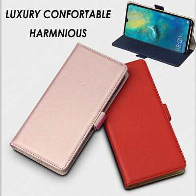 Luxury Magnetic Leather Wallet Flip Case Stand Cover For Huawei Mate 20X Samsung