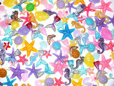 Mermaid Island Flatback Seahorse Starfish Turtles Tails Shells Resin Craft DIY