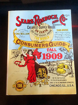 SEARS ROEBUCK CO CONSUMERS GUIDE CATALOG vintage 1979 reprint 1909 FREE SHIPPING
