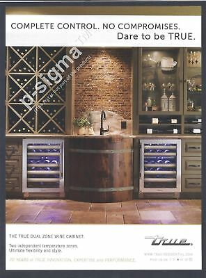 TRUE RESIDENTIAL - Dual Zone Wine Cabinet -Print Ad
