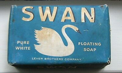 Vintage SWAN Pure White Floating Soap Large Size in Orig Unopened Paper Wrapper