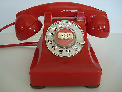 Antique original   Western Electric RED 302  telephone  Fully restored