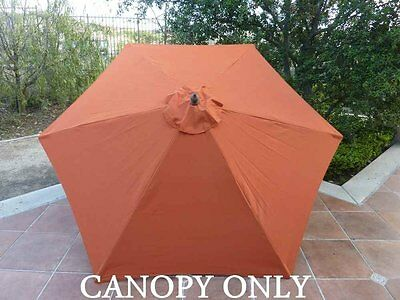9ft Umbrella Replacement Canopy 6 Ribs in Terra Cotta (Canopy Only)