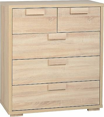 d8c4fb968d4 Seconique Cambourne 3+2 Drawer Chest in Sonoma Oak Effect Veneer - Free  Delivery