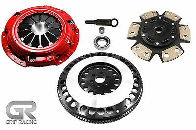 Grip Racing Stage 3 Clutch & 12Lbs Flywheel Kit For 240Sx 2.4L Base Le Se Ka24De